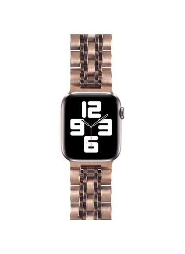 Wiwu Apple Watch 42mm Seven Beads Steel Belt Metal Kordon Altın